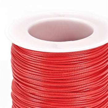 Плетёный шнур красный, хлопок с пропиткой, 1 мм