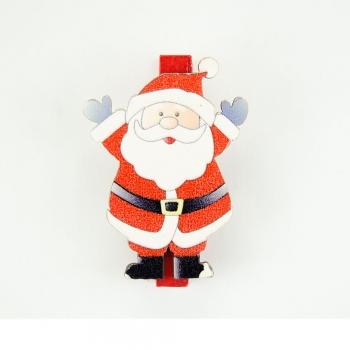 Прищіпка дерев'яна Дід Мороз