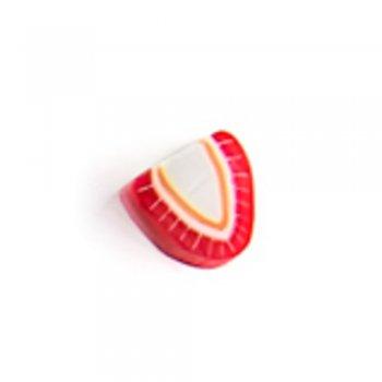 Полуниця. Намистина з полімерної глини, 10 мм