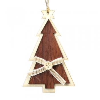 Деревянная декоративная подвеска Елочка