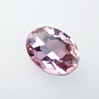 Стрази скляні вставні. Рожевий. Довжина 25 мм, ширина 18 мм.