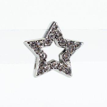 Бусина слайдер Звезда Давида мельхиоровая