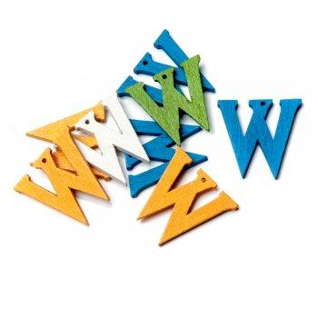 Підвіски дерев'яні, буква W