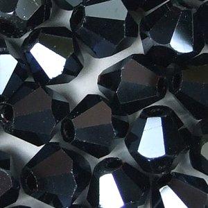 Кришталева намистина біконус 6 мм гематитова