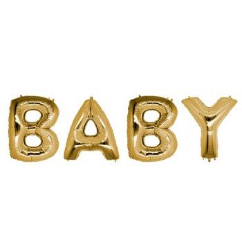 Шарики надувные в виде слова BABY 40 см