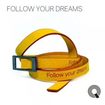 """Браслеты квоутлеты """"Follow your dreams"""", желтый"""