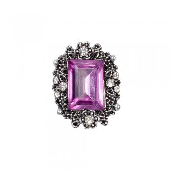 """Бусина кнопка """"Фиолетовый камень"""""""