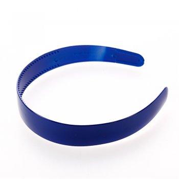 Обруч пластиковый синий глянцевый