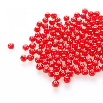 Скло під камінь. Червоний. Діаметр 8 мм.