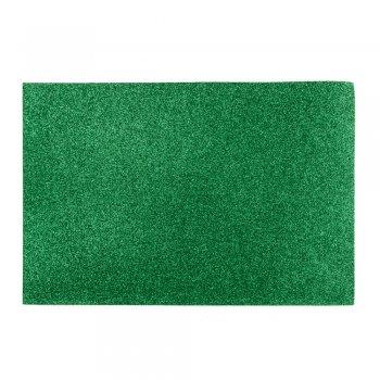 Фоаміран з глітером 20 х 30 см зелений