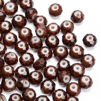 Бусины стеклянные граненые, 6 мм, коричневый, 6 мм