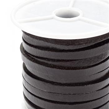 Стрічка з пресованої шкіри 5 мм коричнева