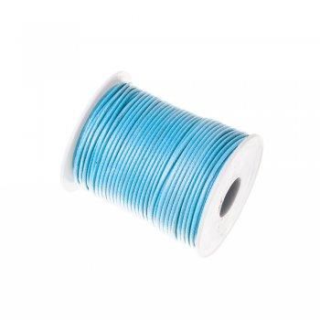 Плетёный шнур аквамариновый синтетика 2 мм
