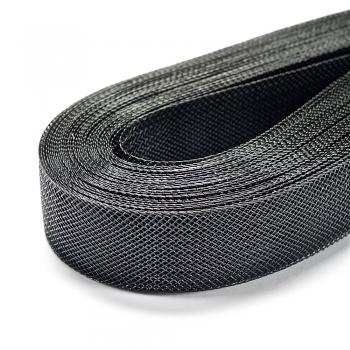 Лента нейлоновая плетеная серая