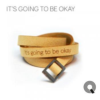 "Браслети квоутлети ""It's going to be okay"", бежевий"