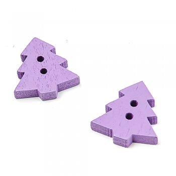 Ялинка маленька фіолетова. ґудзики дерев'яні