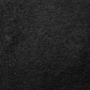 Шерсть-кардочёс новозеландская чёрная 27 мкм 25 г, К1008