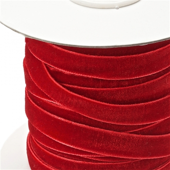 Стрічка оксамитова 10 мм червона