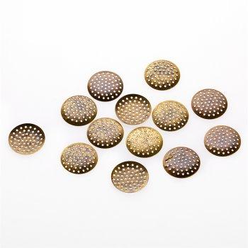 Решетчатые основы для брошей, бронза, 25 мм