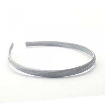 Обруч пластиковий з атласним покриттям сірий