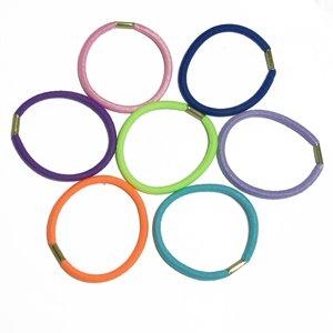 Резинка для волосся. Мікс кольорів. Діаметр 70 мм, ширина 3 мм.