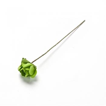 Штучна квітка зелена 15 мм