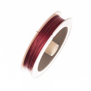 Металева волосінь. Червоний. Діаметр 0,38 мм.