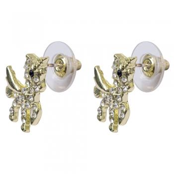 Сережки (пара) гвоздики Єдиноріг колір золото