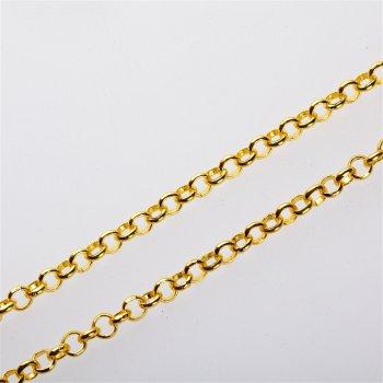 Цепь под золото средняя ролло 4,8х4,8х1,4 мм