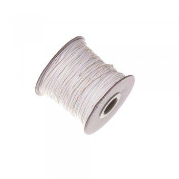 Плетёный шнур белый, хлопок с пропиткой, 1 мм