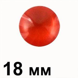 Пластиковые кабошоны 18 мм красный круг