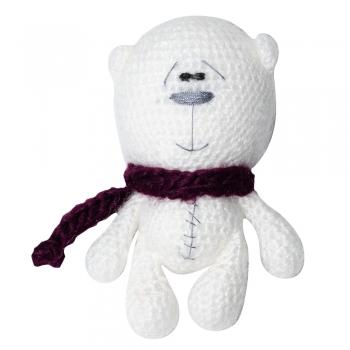 Ведмідь в бордовому шарфі (ручна робота)
