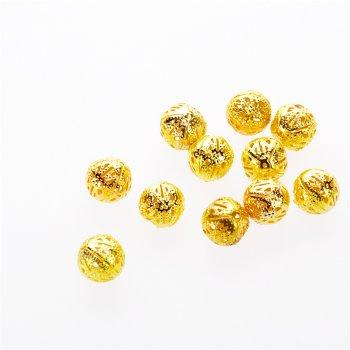 Золотистые ажурные бусины
