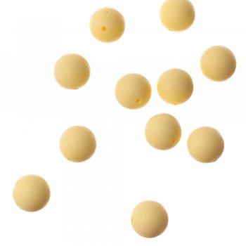 Силиконовая бусина, светло-желтая, 20 мм