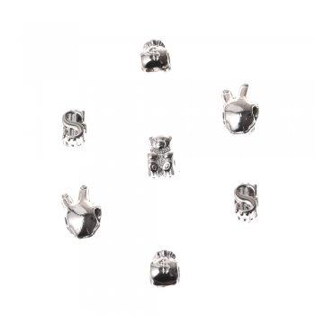 Ведмідь, металева намистина шарм, мельхіоровий, 13х8 мм