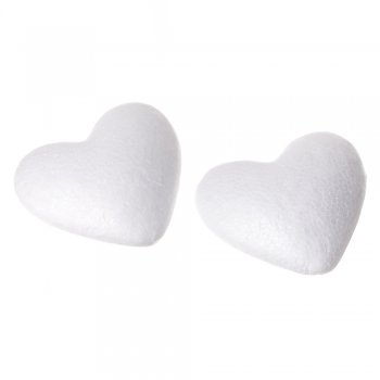 Пенопластовая заготовка  сердце 90 мм