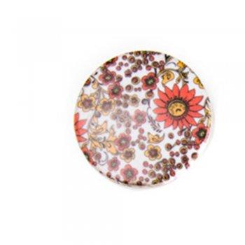 Намиста пластикові круглі 40 мм пластик з візерунком. Білий.