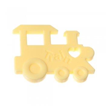Подвеска силиконовая желтый паравозик 70 мм