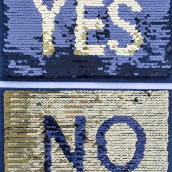 "Тканинні нашивки з реверсивними паєтками ""Yes / No"""