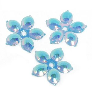 Паєтки квіти, райдужно-блакитні, 10 мм