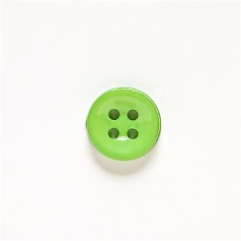 Пуговица пластиковая зеленая