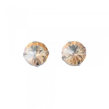 Стрази скляні пришивних в металевій оправі (уп2шт)