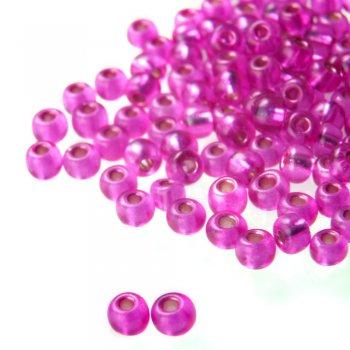 Бисер круглый, крупный, розовый, матовый. Калибр 6 (3,6 мм)
