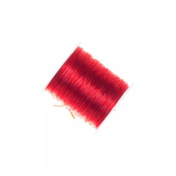 Резинка силіконова товста червона 0,8 мм
