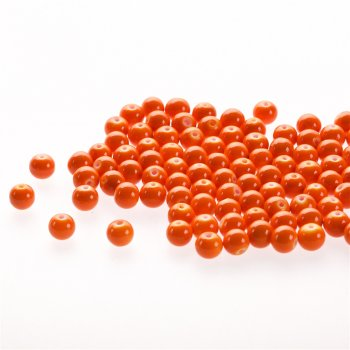 Скло опакове одноколірне. Темно-персиковий. Діаметр 8 мм.