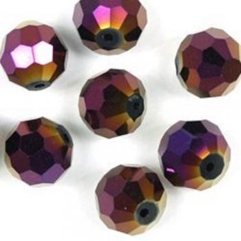 Кришталева намистина кругла 12 мм фіолетова бензольна
