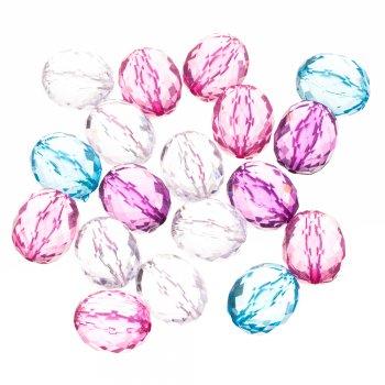 Пластиковые кристаллы розовые 19 мм