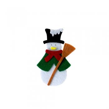 Фетровий декоративний елемент Сніговик