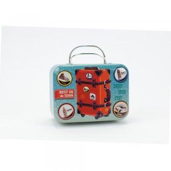 Коробочка жестяная в виде чемоданчика Enjoy Your Stay