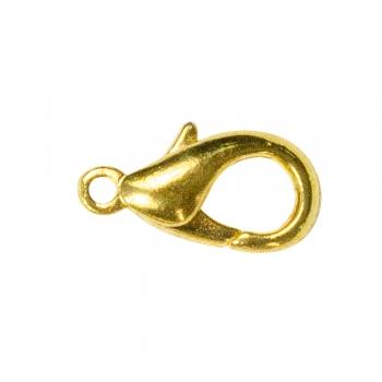 Карабин, золото, 16 мм